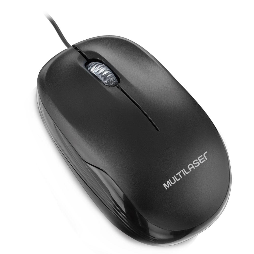MOUSE USB OPTICO PRETO (MO255)