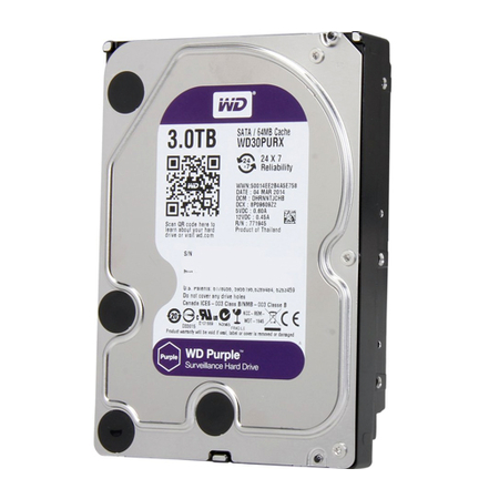 HD 3 TB SATA III WESTERN DIGITAL(PURPLE ) WD30PURX