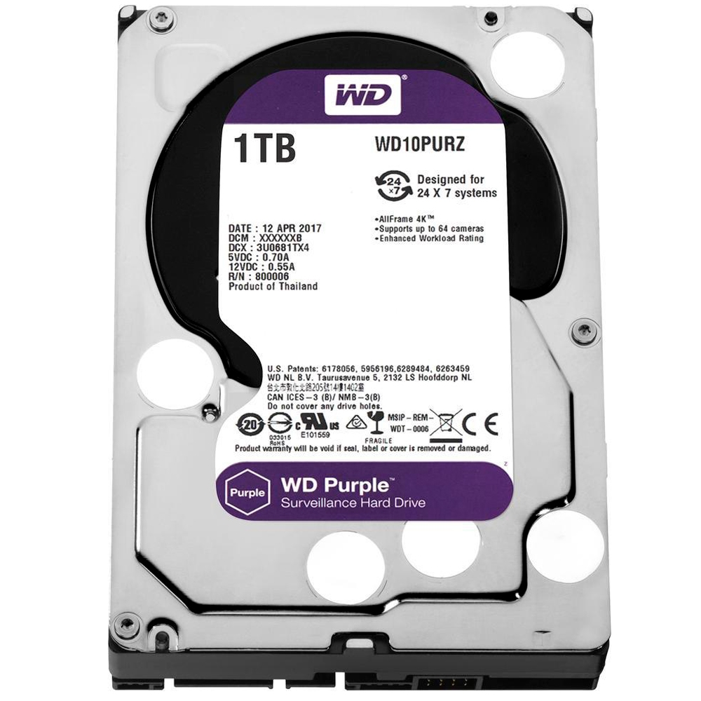 HD 1 TB SATA III WESTERN DIGITAL(PURPLE ) WD10PURZ